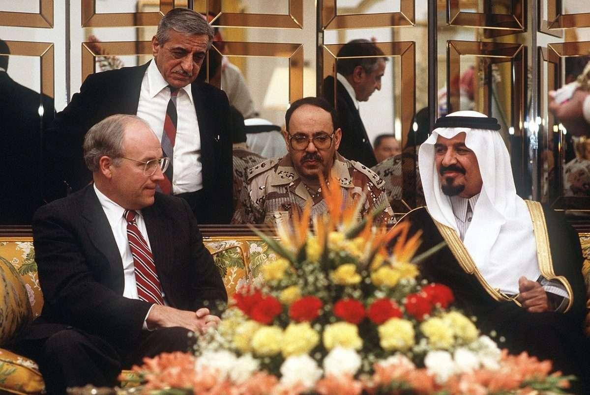 Il vice Presidente Chiney con il Principe Sultan Al Saud
